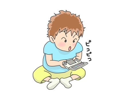 A boy who is crazy about games