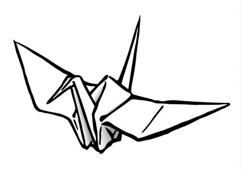 Folding crane - white