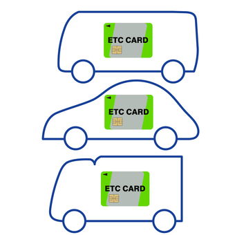 Illustration of ETC card loaded vehicle