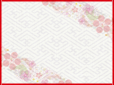 Red frame Japanese style background 16111301