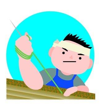 榻榻米的工匠