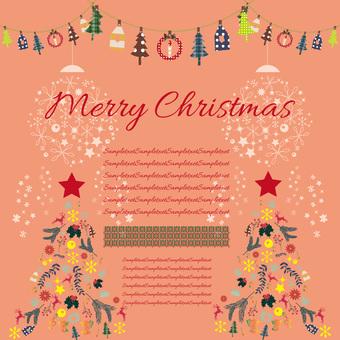 Christmas card material