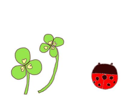 Clover and ladybird