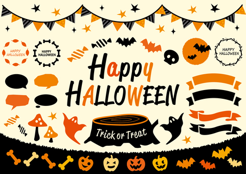 Pop Halloween Frames & Ribbons