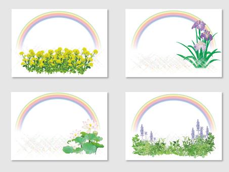 Rainbow and flower card