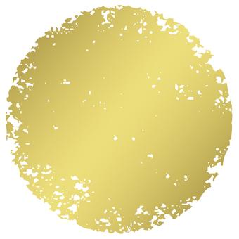 Stamp circle _ Blue gold _ cs