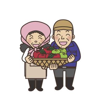 사과 농장 부부