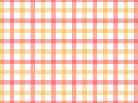 Gingham check (red · orange)