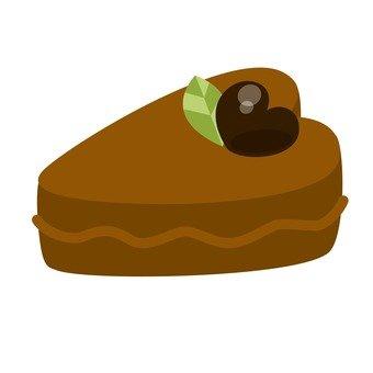 하트 모양의 케이크