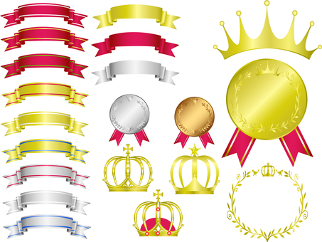 Crown Medal Ribbon Material Collection