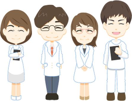 의사 4 명