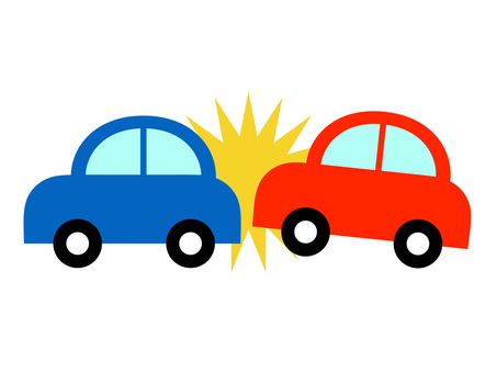 Car automobile accident traffic accident rear-end collision