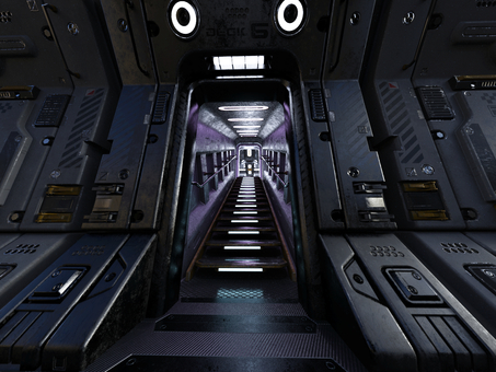 Passage in the spacecraft (steps)