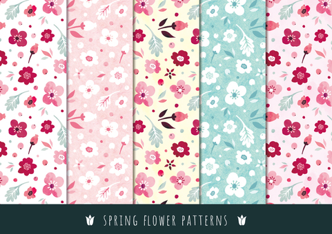 Spring background pattern 005 flower water color