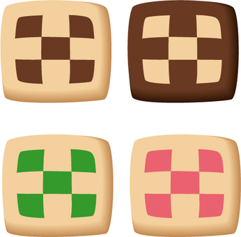 Box cookie · different color