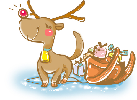 Boastful reindeer and sled