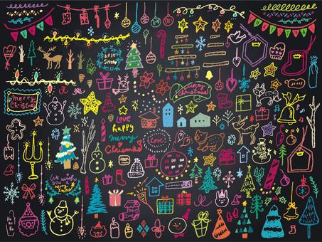 014 Color Blackboard Art Xmas
