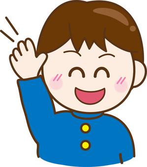 Illustrations Free boys waving pretty hands