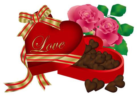 Heart Chocolate & Rose 22