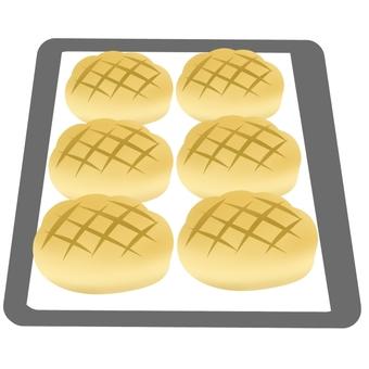 구운 멜론 빵