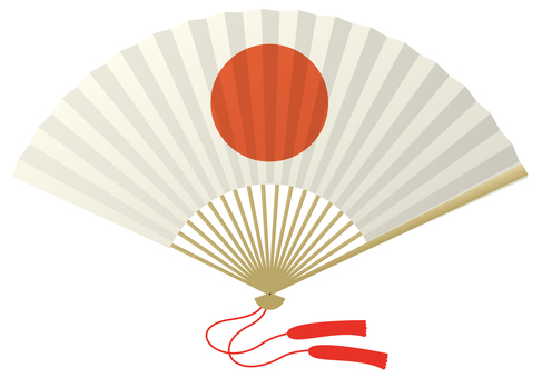 Folding fan / Japanese flag