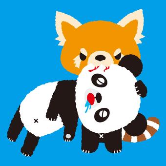 Two types of panda