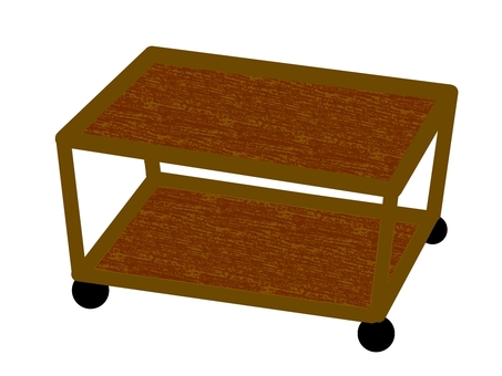 Side table with casters
