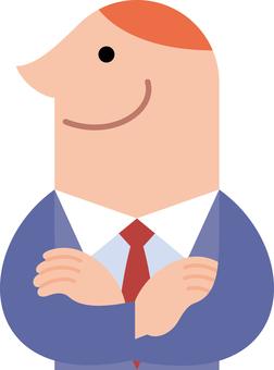 Business profile profile arms crossed