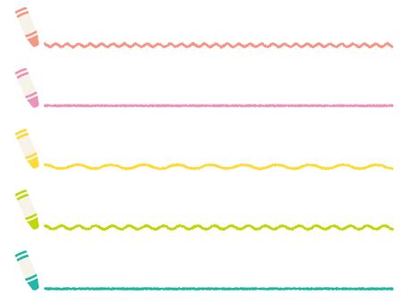 Crayon line set
