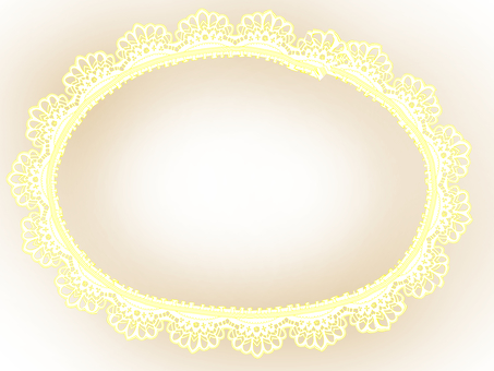 Paper lace frame - Cream