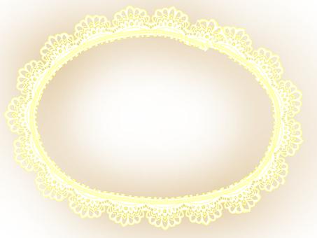 紙花邊框架 - 奶油