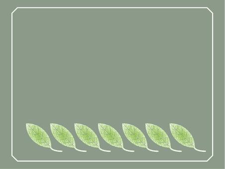 葉っぱナチュラル&シンプルフレーム