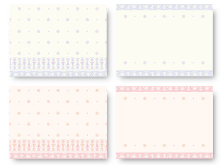 Classic pattern drawing card 01