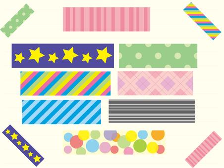 Various masking tapes