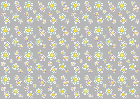 Floral pattern (gray)