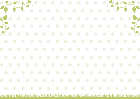 Leaf turf frame dot background