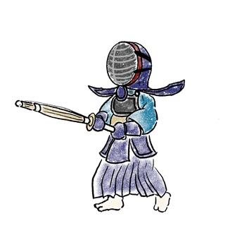 Kendo swordsman