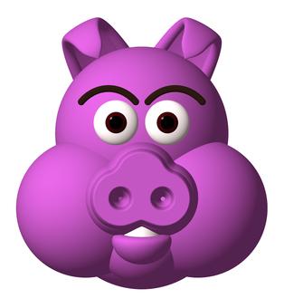 돼지 돼지 _ 보라색
