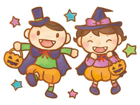 A_ elementary school student_halloween