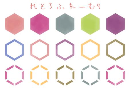 Tetomaru Fumie 9 watercolor hexagon
