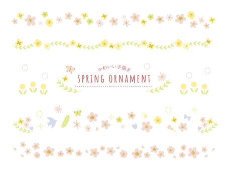 Postcard flower line set
