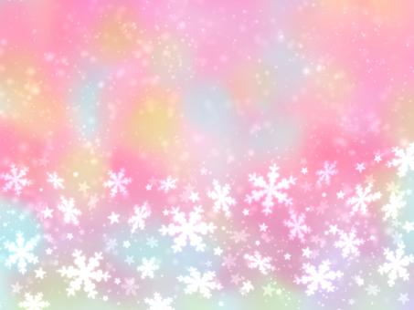 Aurora Color x Snow Crystal Winter Wallpaper