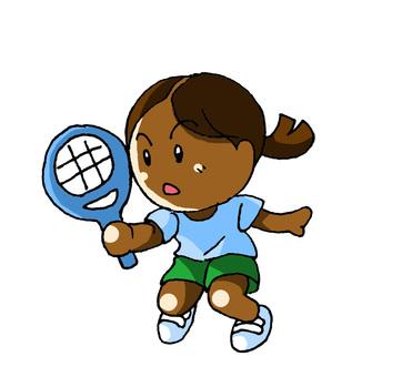 Black tennis women