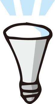 LED light bulb (lit)