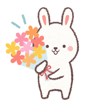 Have a flower rabbit