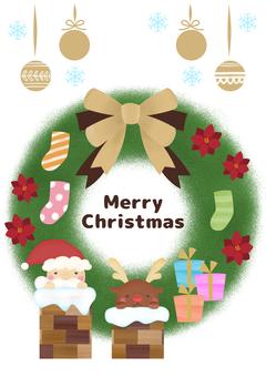 Christmas wreath (Santa, reindeer)