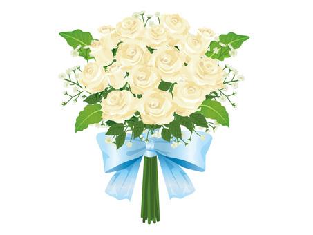 White rose wedding bouquet / bouquet 03