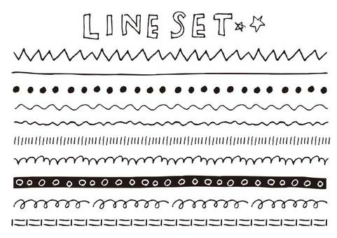 Handwritten material 001 line set