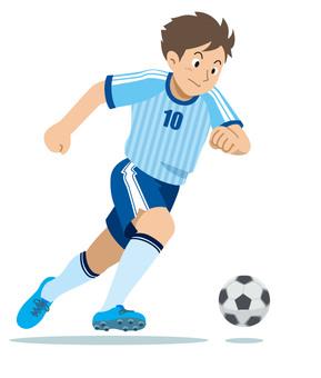 Soccer player sports illustration