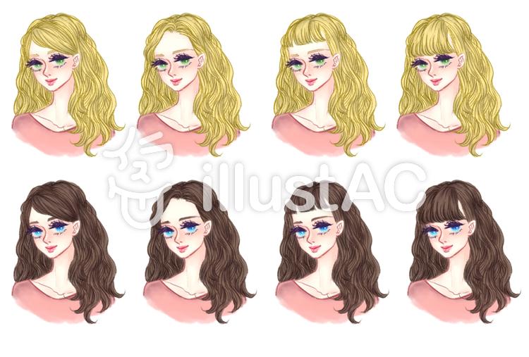 女の子の髪型ゆるふわaイラスト No 1292080無料イラストなら